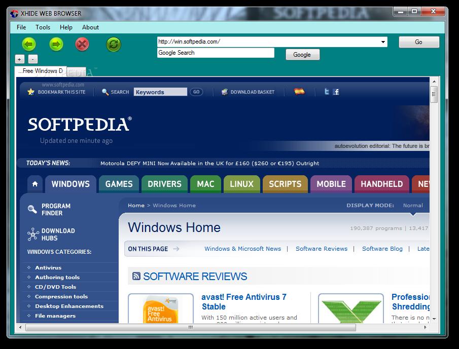 Download XHIDE WEB BROWSER 1 0 0 0