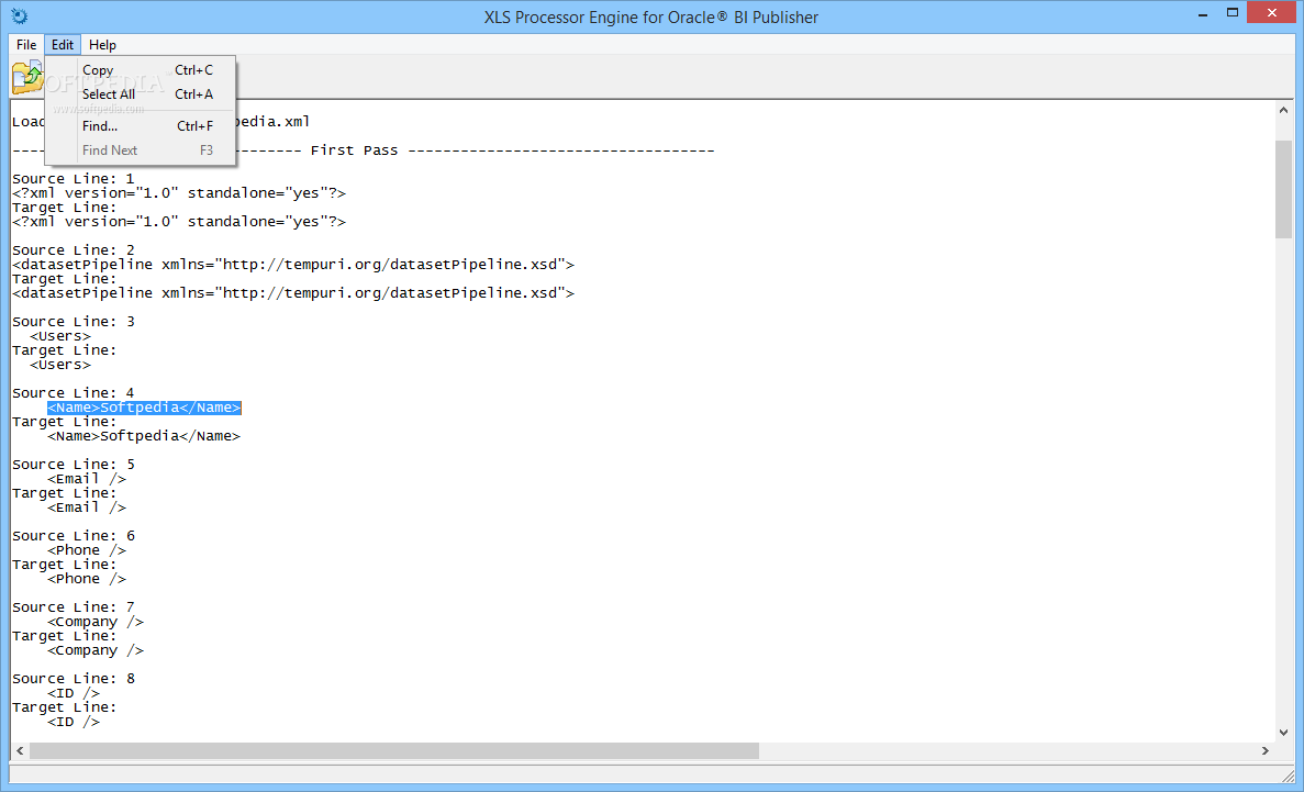 Download XLS Processor Engine for Oracle BI Publisher 1 0 Build 45