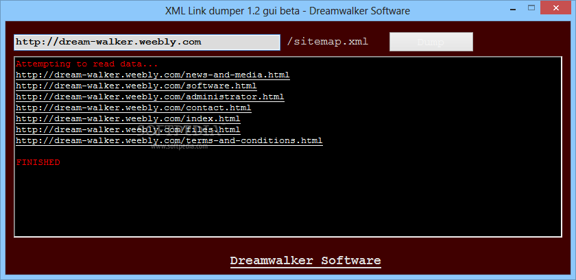 download xml link dumper 1 2 beta