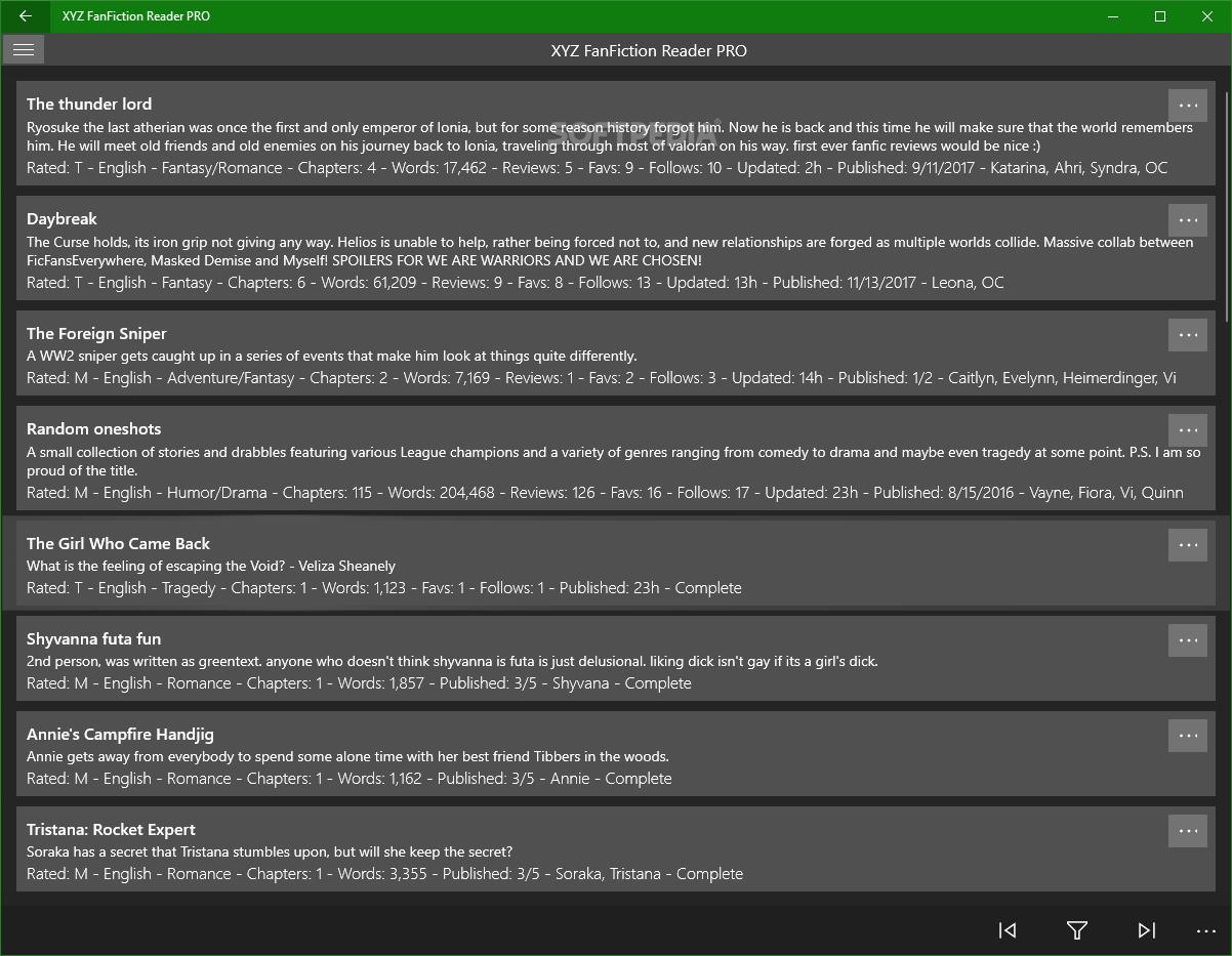 Download XYZ FanFiction Reader PRO 1 2 8 0
