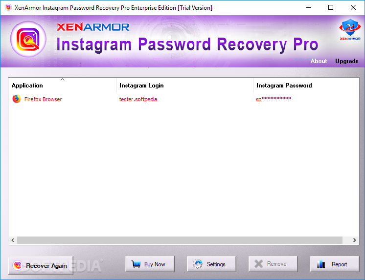 Download XenArmor Instagram Password Recovery Pro 4 0 0 1