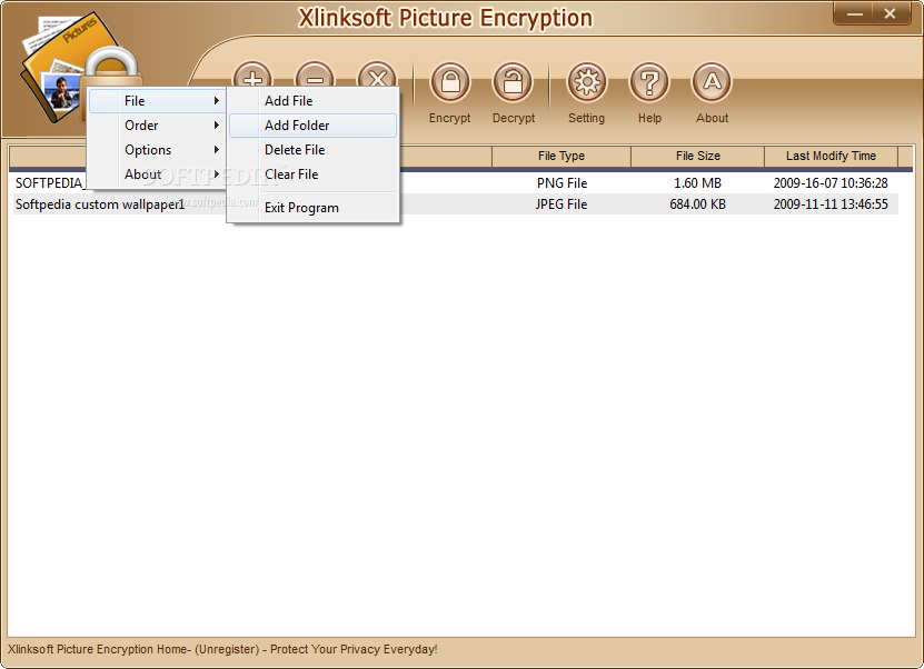 Xlinksoft picture encryption home 2.0.1.258