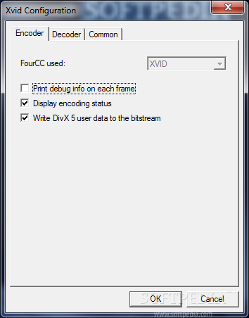 xvid codec binary: