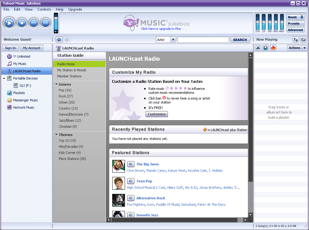 Download Yahoo! Music Jukebox (formerly Yahoo! Music Engine) 2 2 2 058