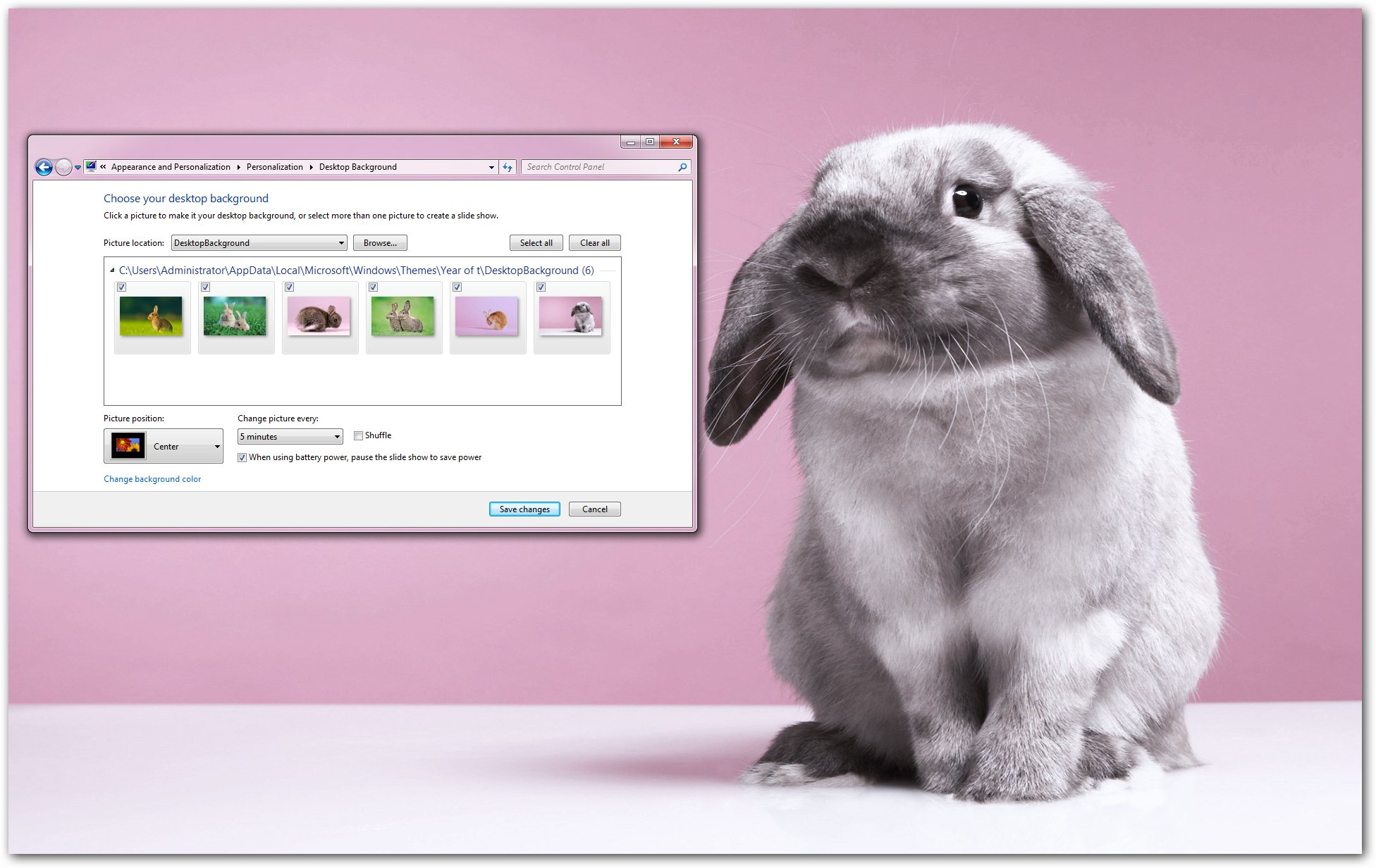 year of the rabbit windows 7 theme celebrate the chinese new year with this new