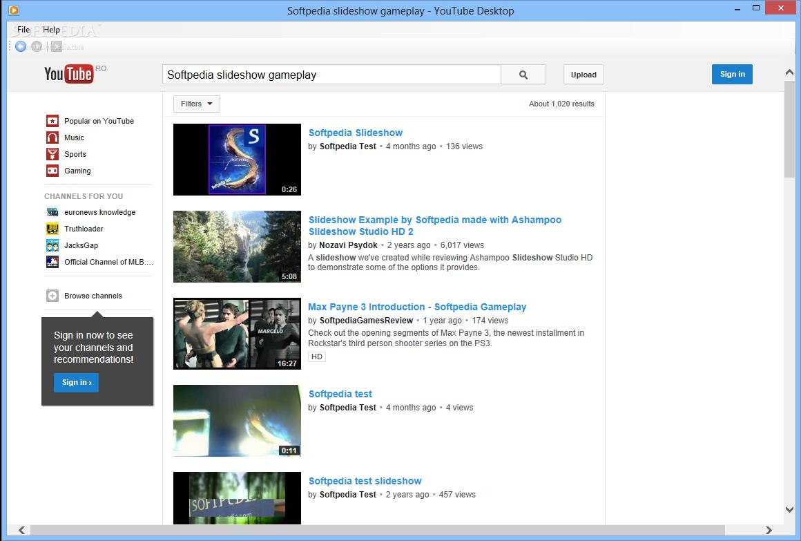 download youtube desktop 1 0