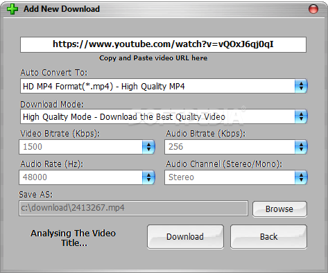 Download YouTube HD Downloader 1 1 1