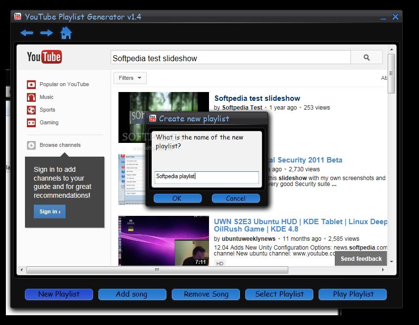 Download YouTube Playlist Generator 1 4