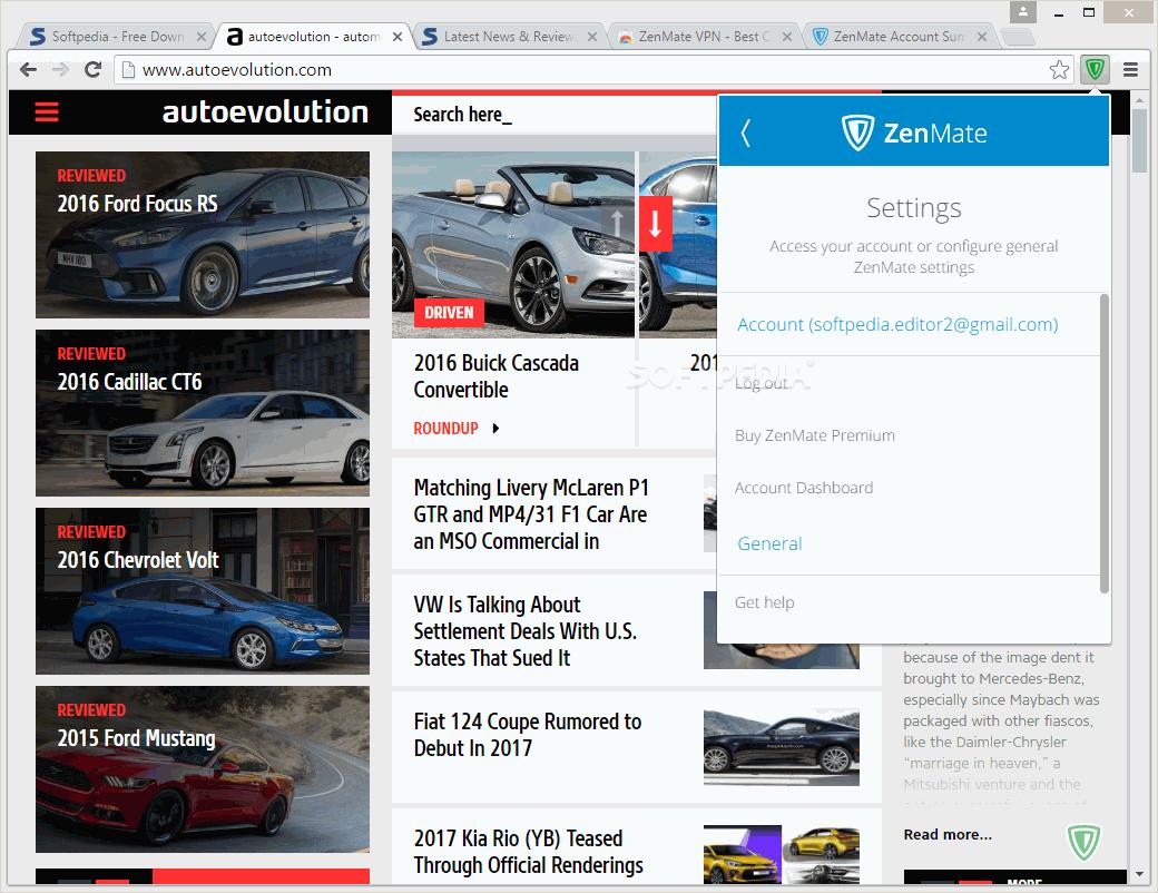 Download ZenMate VPN for Chrome 6 5 4