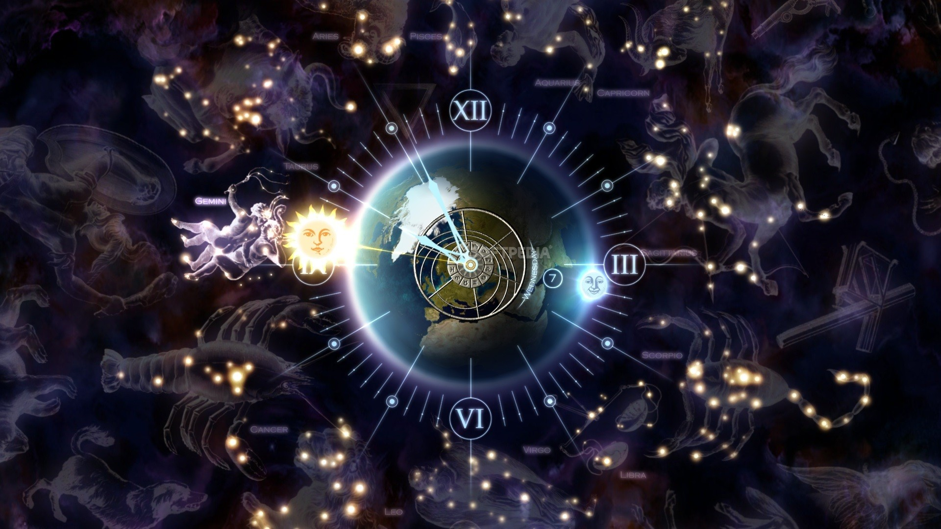Download Zodiac Clock 3D Screensaver 1 1 Build 8