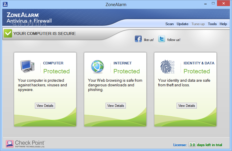 ZoneAlarm Free Antivirus Firewall (free) download Windows version