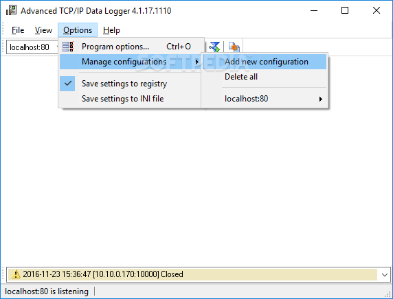 Download Advanced TCP/IP Data Logger 4 4 2 Build 911