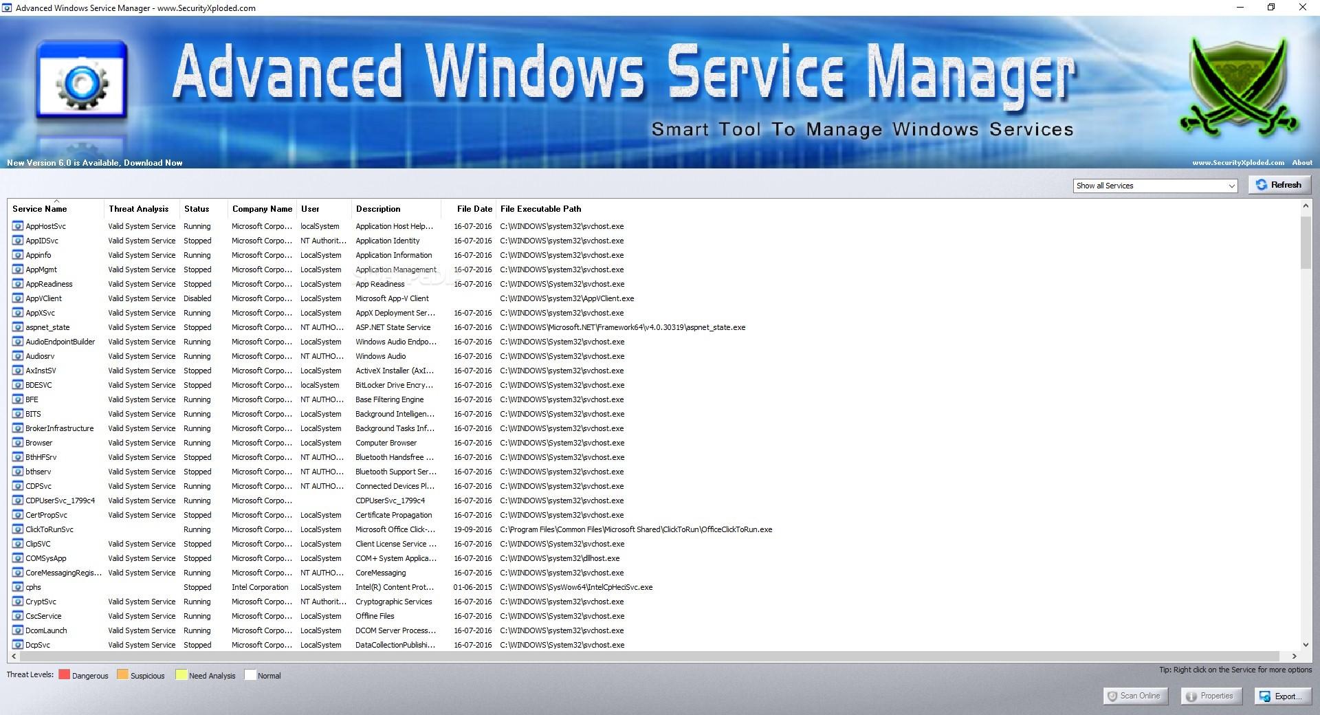 Advanced Windows Service Manager
