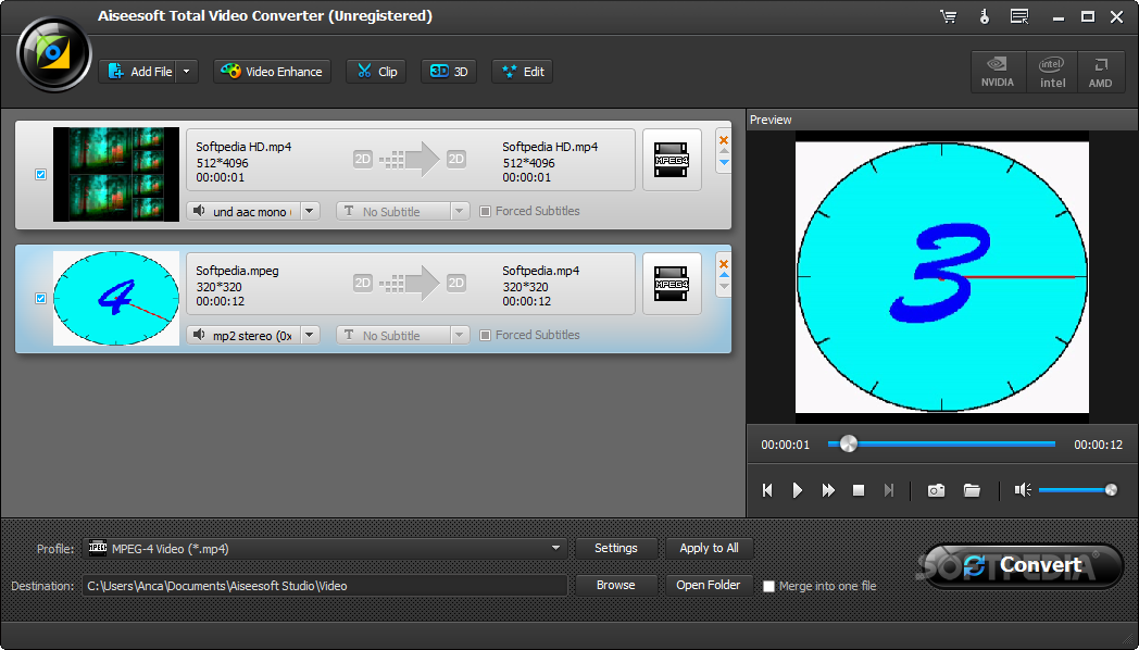 Aiseesoft Total Video Converter The Program Allows You To Add Edit And Convert