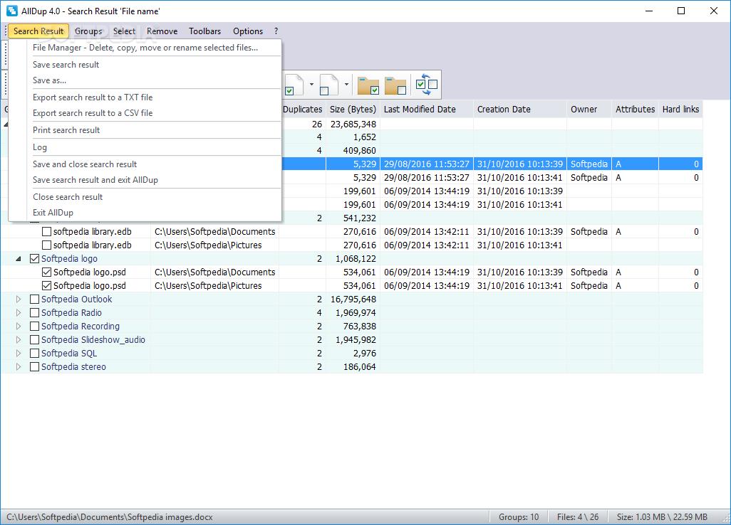 AllDup - Duplicate File Finder Software (Freeware)