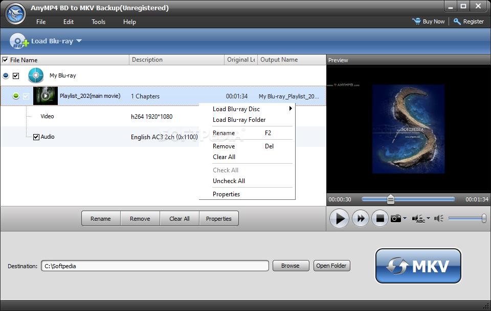 Download AnyMP4 BD to MKV Backup 6 0 26