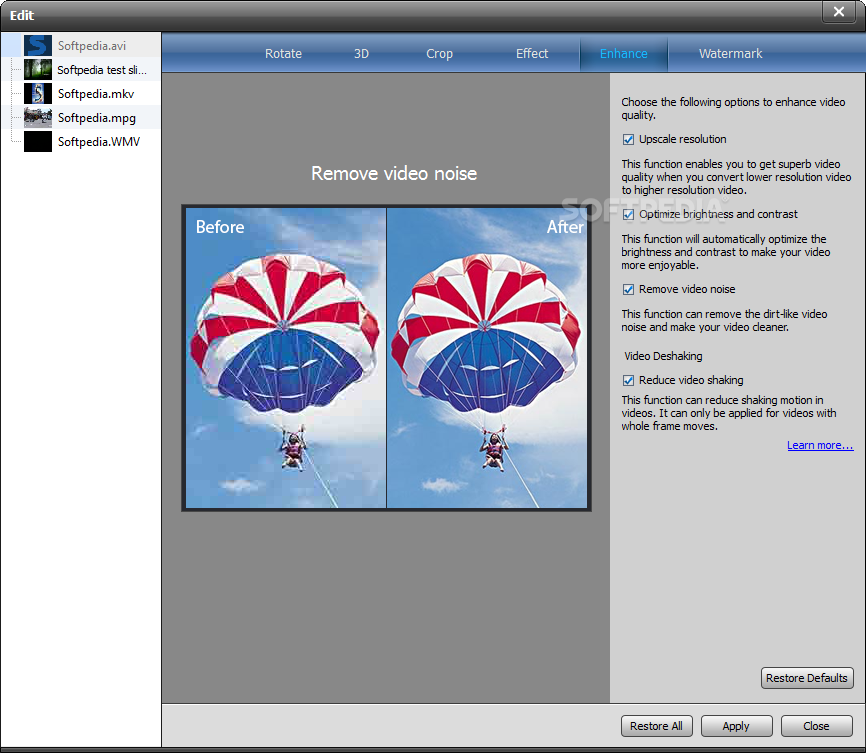 Anymp4 Mac Video Enhancement For Mac