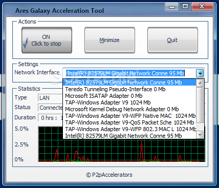 Download Ares Galaxy Acceleration Tool 4.8.0.0