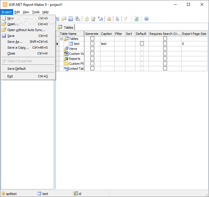 how to create report in asp net