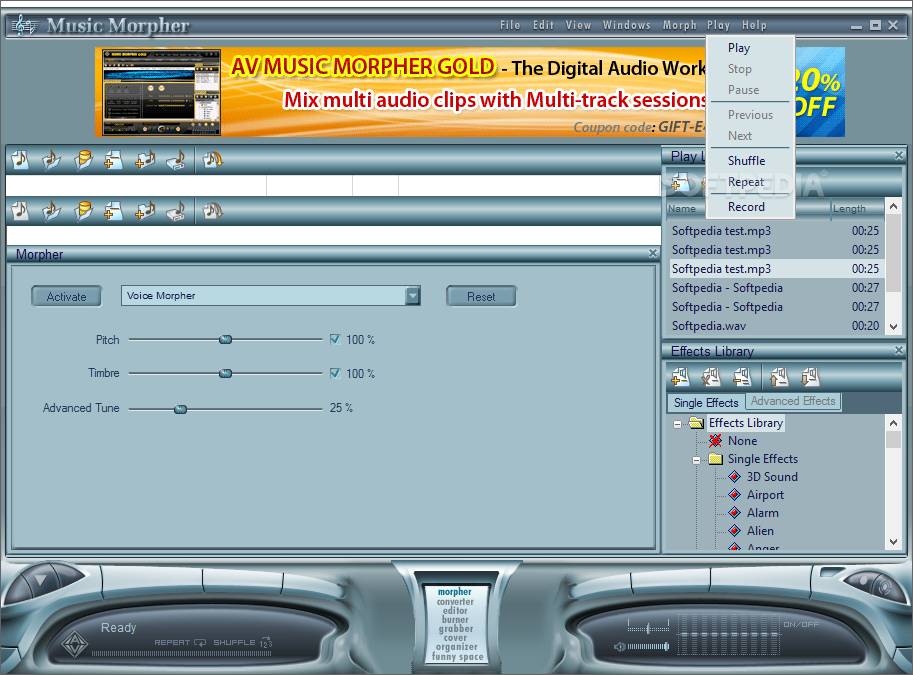 activation code music morpher gold