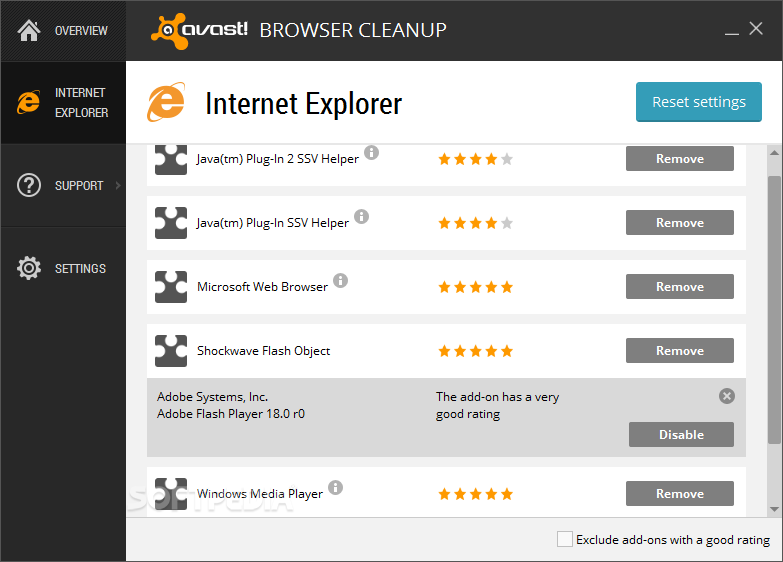 avast browser flash player
