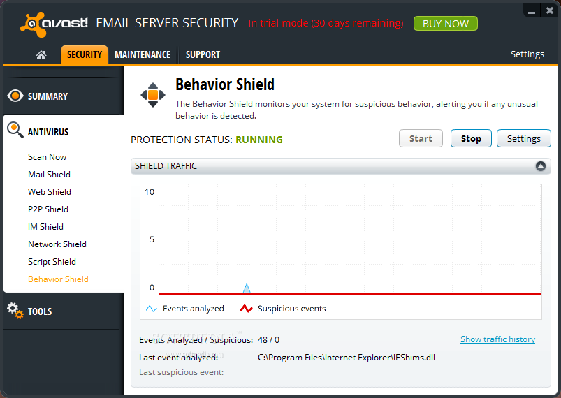 avast windows server