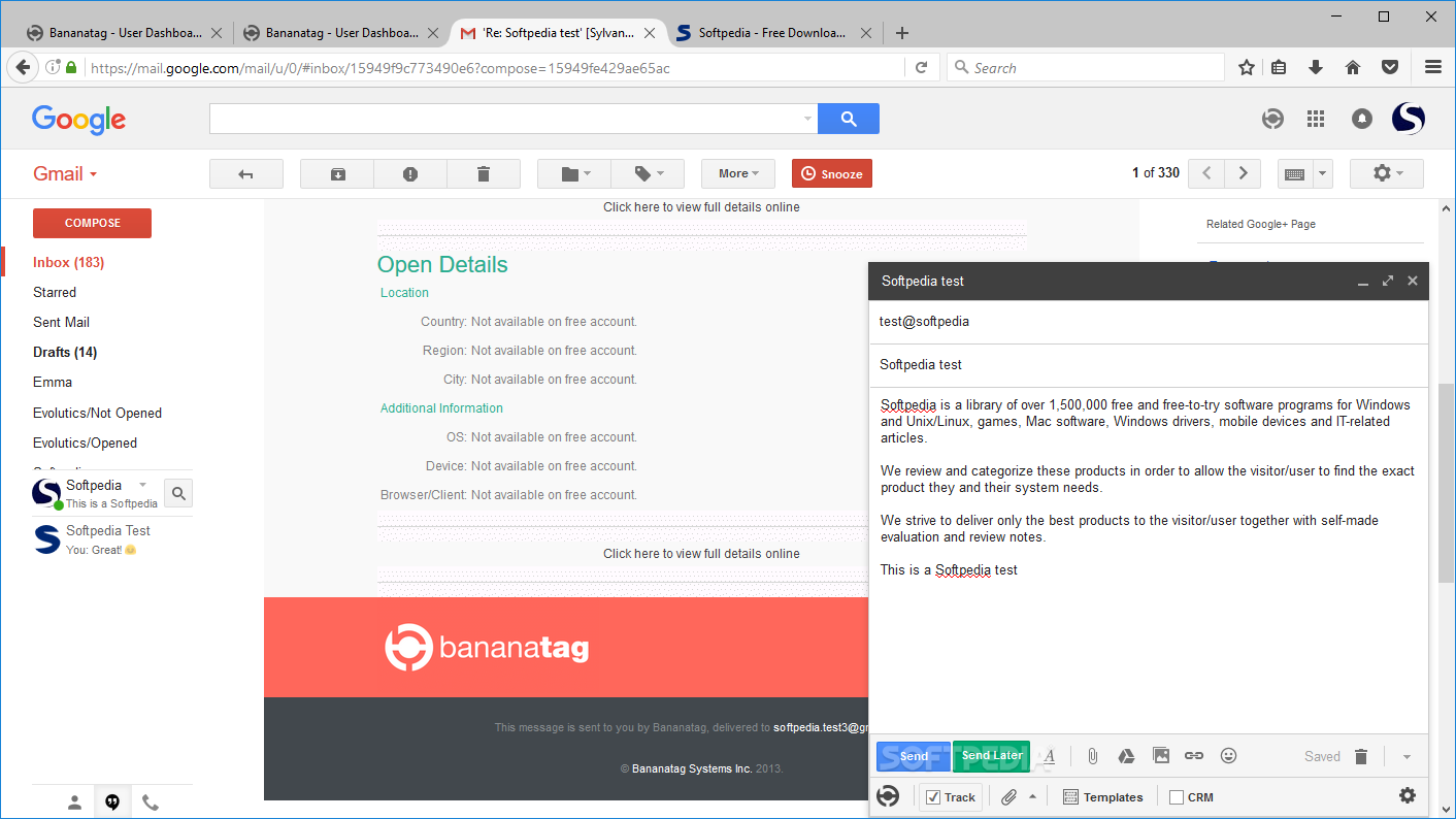 Download Bananatag for Gmail Firefox Addon 2 7 7