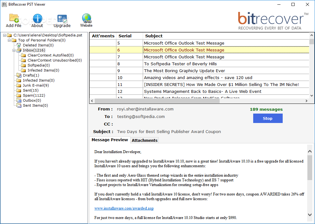 Download BitRecover PST Viewer 2 0