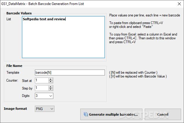 batch barcode generator
