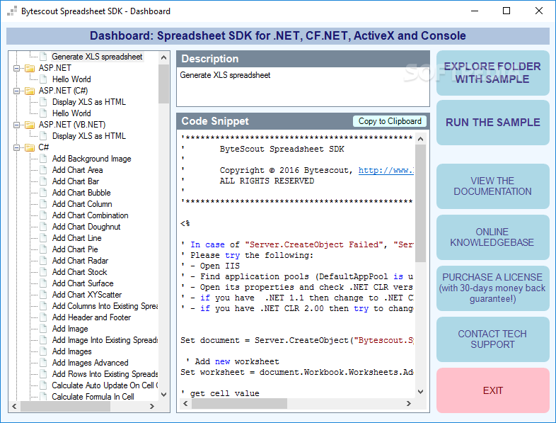 Download Bytescout Spreadsheet SDK 3.4.2.1783