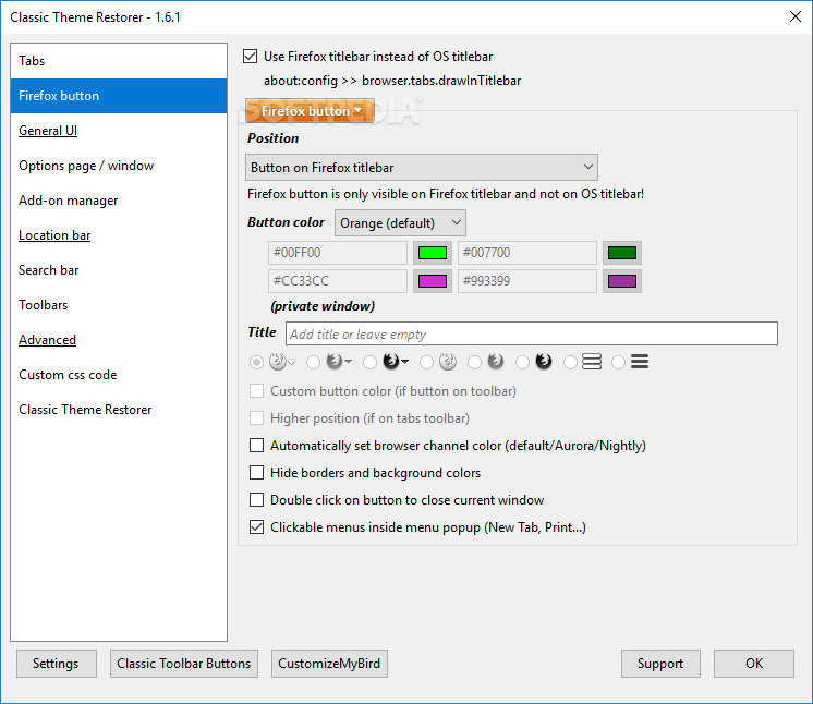 Download Classic Theme Restorer for Firefox 1 7 7 2
