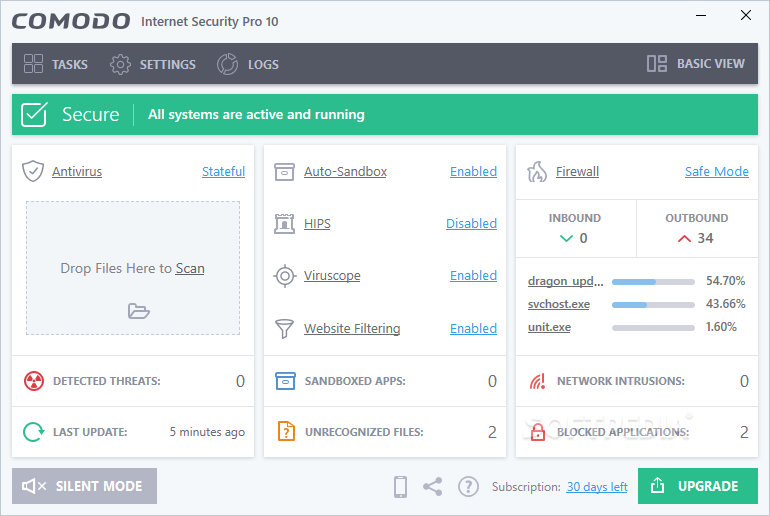 Comodo Internet Security Pro 10.0.2.640