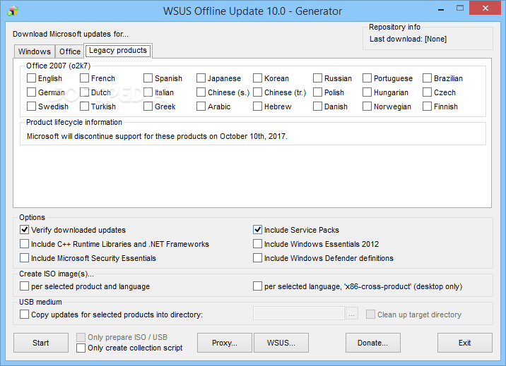 Download WSUS Offline Update 11 8
