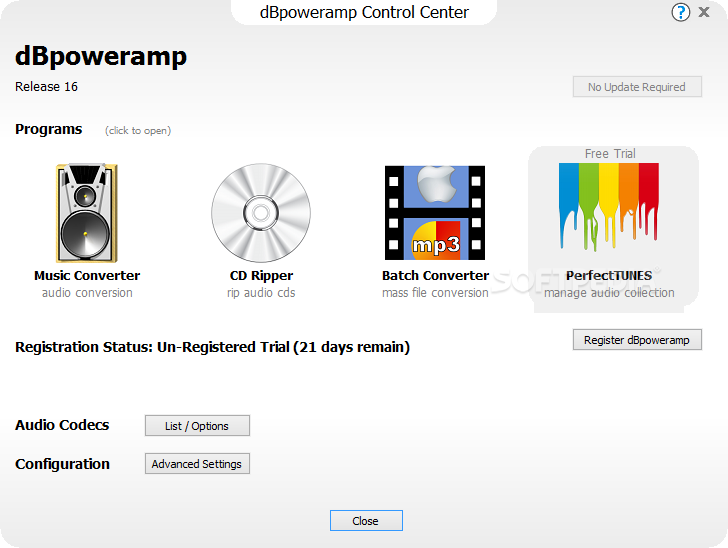 Download dBpowerAMP Music Converter 16 6