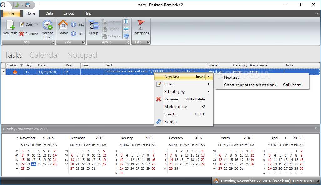 Desktop Reminder Provides Users With A Versatile Task Planner That Can Help Them
