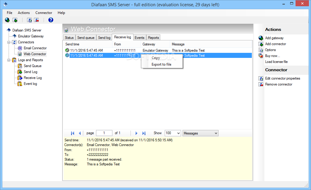 Download Diafaan SMS Server - full edition (formerly Diafaan Message  Server) 4 3 0 2