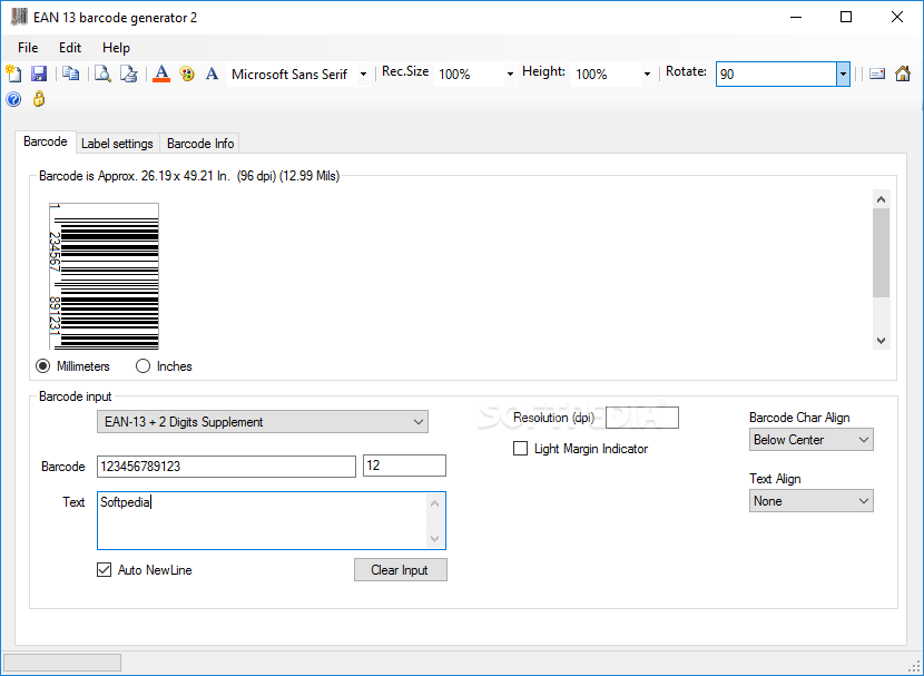 Download EAN 13 barcode generator 2.90.0.0