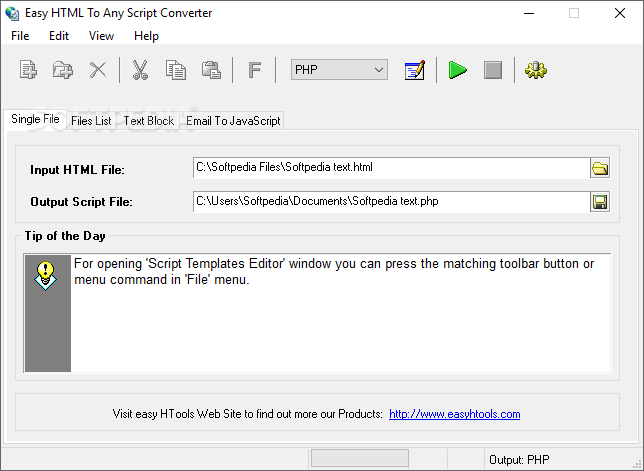 Download Easy HTML To Any Script Converter 3 0 0 Build 037