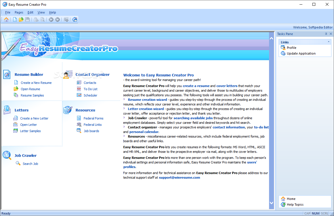easy resume creator pro easy resume creator pro provides you with a number of useful