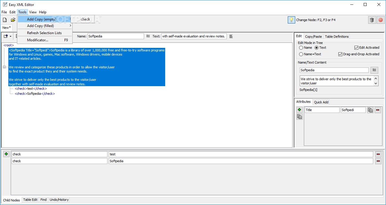 Download Easy XML Editor 1 7 2