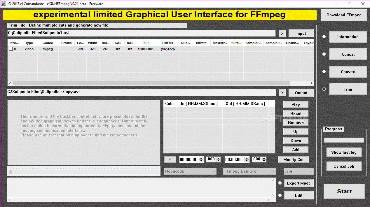 Download elGUI4FFmpeg 0 21 Beta