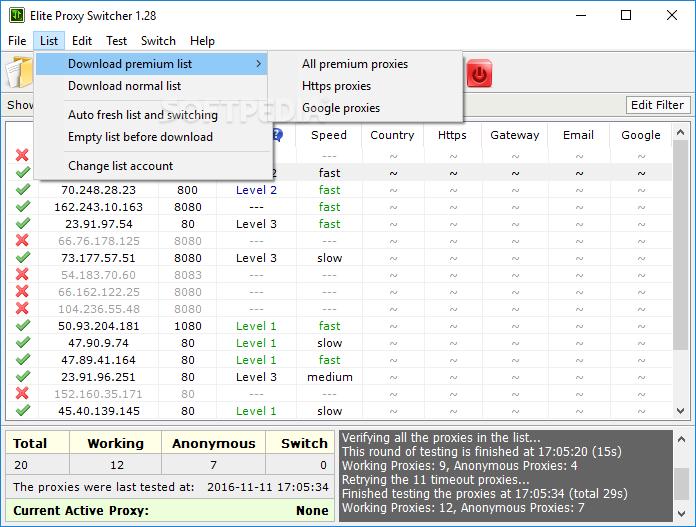 Download Elite Proxy Switcher 1 30 Build 181015