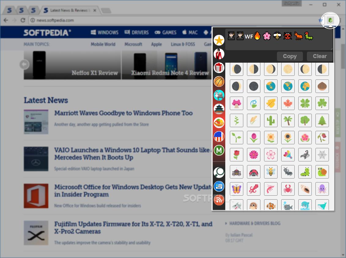 Download emojiSelector for Chrome 5 0 0