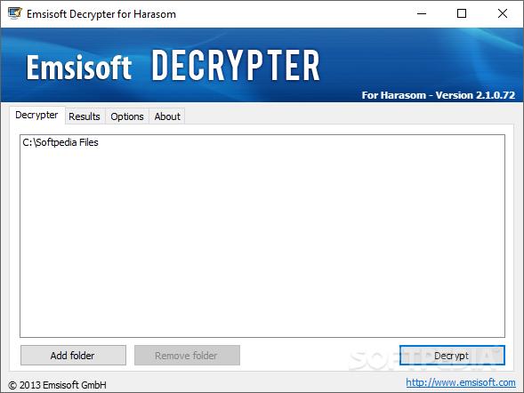 Download Emsisoft Decrypter for Harasom 2 1 0 72