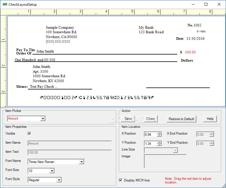Download ezCheckPrinting 7 0 8