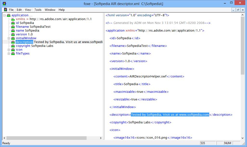 Download firstobject XML Editor 2 4 2 431 Beta