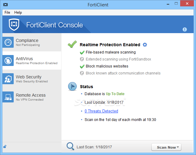forticlient pour windows 10