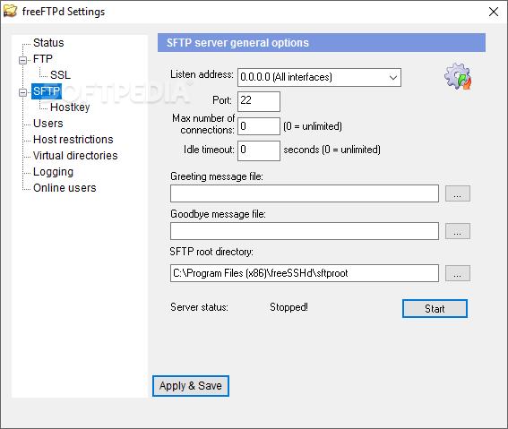 Download freeFTPd 1 0 13