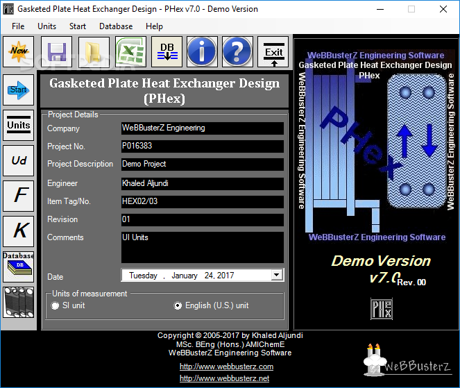 Download Gasketed Plate Heat Exchanger Design 7.0