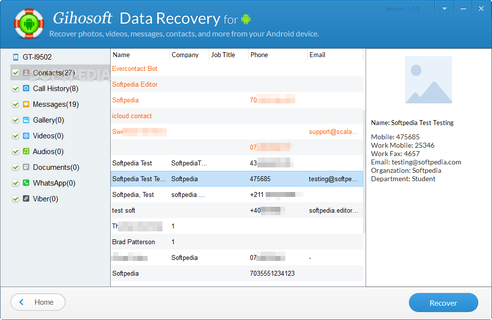 free mobile phone data recovery software